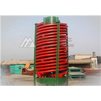 High efficiency spiral chute/beneficiation machine