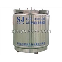 Large-diameter liquid nitrogen biological container of stainless steel