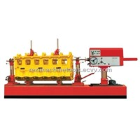 Line boring machine for main and camshaft bearings