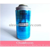 Metal Spray Can with Cap 4 Color Printed