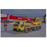 Mobile crane operation teaching system