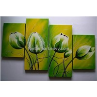 Modern tulip oil painting, multi-panel painting, flower oil painting