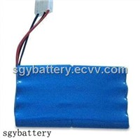 AA 800mAh 9.6V Ni-CD Battery Pack