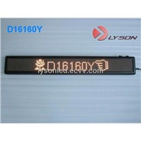 P4.75mm 16*256 Dots Bus LED Moving Message Display / Bus Display Screen
