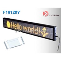 P7.62mm 16*128 dots Standard Display Screen,one line led message display