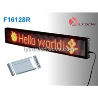 P7.62mm 16*64 Dots Standard Display Screen / Indoor LED Message Display