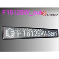 P7.62mm DIP 16*128 Pixels White Color Standard Display Screen