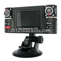 Remote Control Dual Lens Driving Recorder Dashboard Motion Detect Vehicle Black Box Car Camera