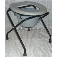 Simple folding commode chair