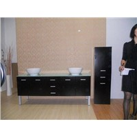 Solid Wood Bathroom Cabinet FM-S76