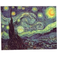 Starry Night oil painting by Van Gogh, reproduction oil painting