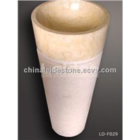 Sunny yellow cone pedestal sink LD-F029