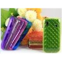 Transparent three-dimensional square Diamond TPU Cell Phone Case for Samsung5830