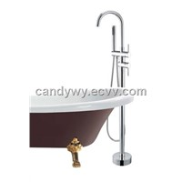 Two Handles Chrome Floor Faucet For Bathroom (FL-9103)