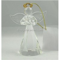 Xmas Purple Color Crystal Angel Pendant FF-XYC007-1