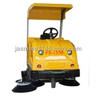 commercial sweeper with shap frame