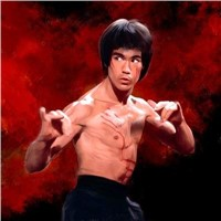 customised portrait oil painting awesome Bruce Lee, very good quality