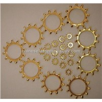 external teeth brass washers