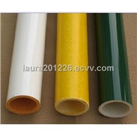 glossy color painted glass fiber tube