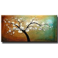 hand made tree painting on canvas