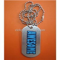 military tag,ID tag,dog tag with ballchain