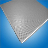 perforated acoustic metal ceiling tile