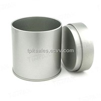 round metal tea tin box with airproof lid