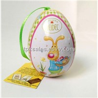 small egg tin box for sweet