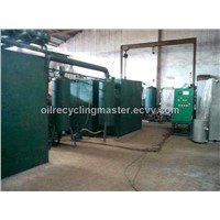 waste engine oil motor oil recycling plant,lub oil regeneration,diesel distillation unit