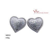 fashion 925 silver earring in rhodium plated