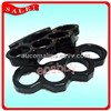 Black Thick Brass Knuckles Duster