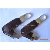 Gifts OEM 4GB 2GB Leather USB Flash Memory