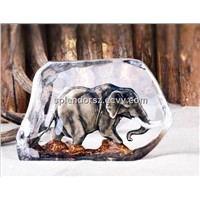 High quality Quartz Crystal inner-carving, customized style decor