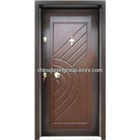 Steel Wooden Armored Security Door (TA326)