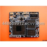 0.7mm Thickness FR4 Black Quick Turn PCB with 8 Layers 0.5 - 6oz