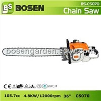 "105cc Big Gasoline Chain Saw with 36"" Guide Bar (CS070)"