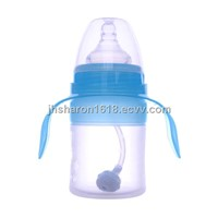 120ml silicone feeding bottle with handle
