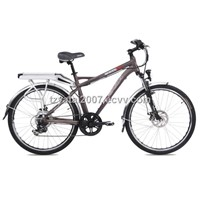 "26"" 250W Li-ion battery Alumnium MTB electric bike with susp. fork/TDE26M005"