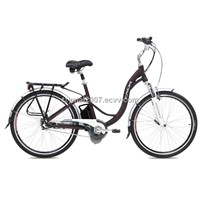 "26"" Inner 3 speed Li-ion battery Aluminum Lady electric bike/TDF26S004"