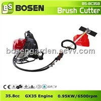 35.8cc 4-Stroke Backpack Gasoline Brush Cutter with GX35 Engine (BC35B)
