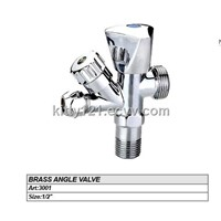 3 way BRASS ANGLE VALVE/chrome angle valve