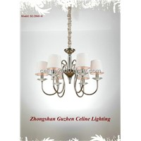 6 lights iron candle chandelier