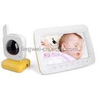 7 Inch LCD Screen Wireless Nightvision Baby Monitor Two Way calling Audio Motion Detection LW-BB901