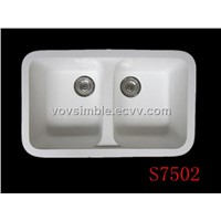 Acrylic solid surface kitchen sinks