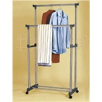 Adjustable Hanging Double-Rod Clothes Drying Rack