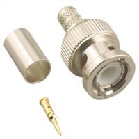 BNC Male 3 Piece Crimp Connector