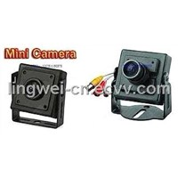 Black Mini Hidden Pinhole Wired Camera with Audio Indoor CCTV Camera (LW-MINI101)