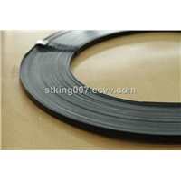 Blue,painted,zinc coated steel strip