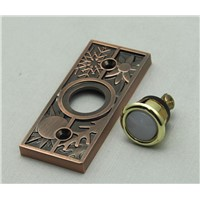 Brone copper pewter antique doorbell  lighted push-button