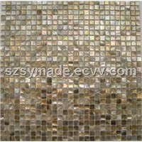 Brown lip shell mosaic, glass shell mosaic tile